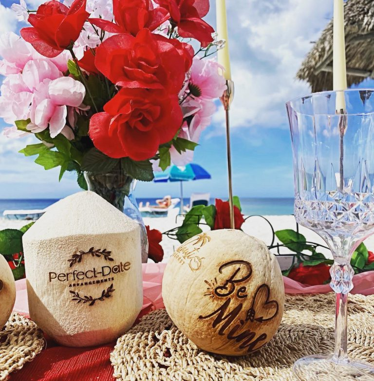 Perfect Date Arrangements Carved Coconuts
